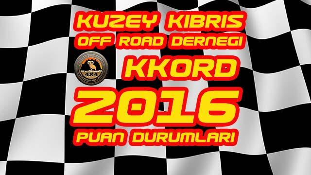 Photo of KKORD 2016 Off Road Şampiyonası Puan Durumları
