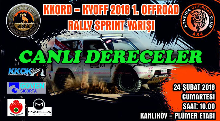Photo of 2018-1.Offroad Rally-Sprint Canlı Dereceler