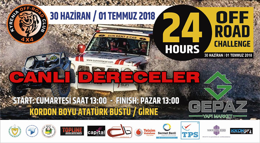 Photo of 24hr. Offroad Challenge Canlı Dereceler