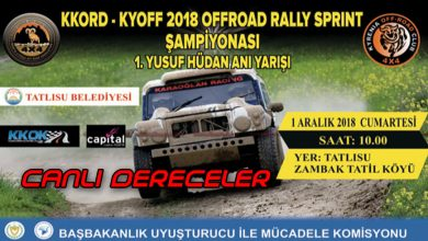 Photo of Yusuf Hüdan Offroad Rally-Sprint Canlı Dereceler