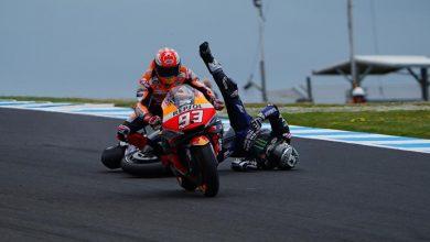 Photo of Phillip Island'da Vinales düştü, kazanan Marquez oldu